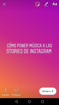 Sticker de música en Instagram